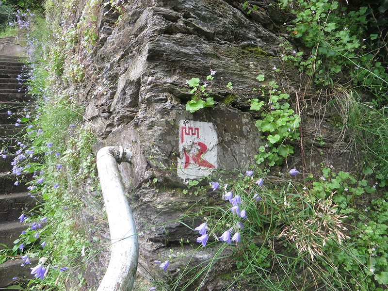 Hier steht ein Foto mit dem Titel: Rheinburgenweg, das Symbol (Foto: Hans-Joachim Schneider)
