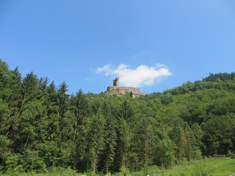 Hier steht ein Bild mit dem Titel: Postkartenschönheit: die Ehrenburg vom Talweg aus gesehen (Foto: Hans-Joachim Schneider)