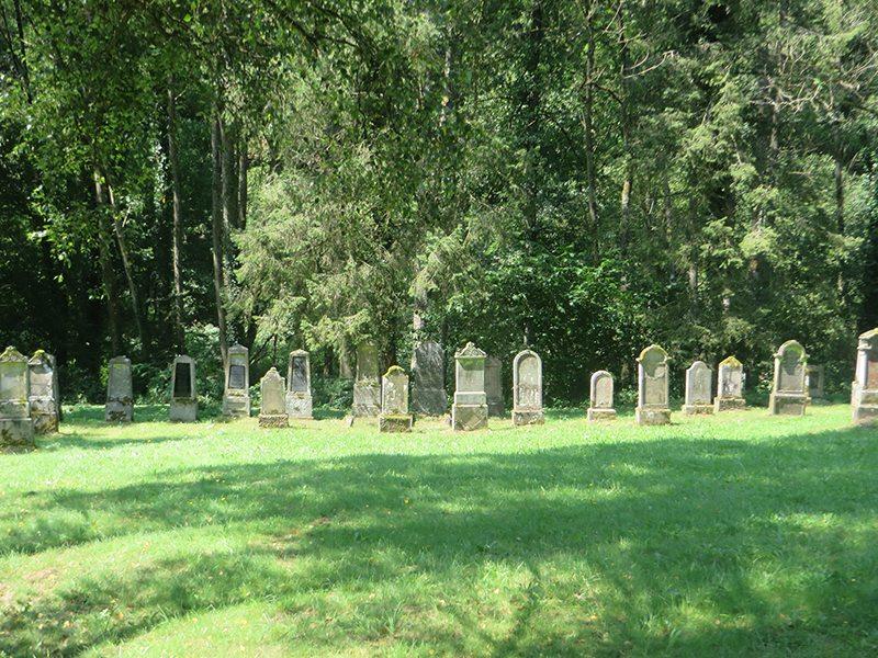 Hier steht ein Bild mit dem Titel: Ein friedlicher Ort: der jüdische Friedhof im Ehrenburgertal (Foto: Hans-Joachim Schneider)