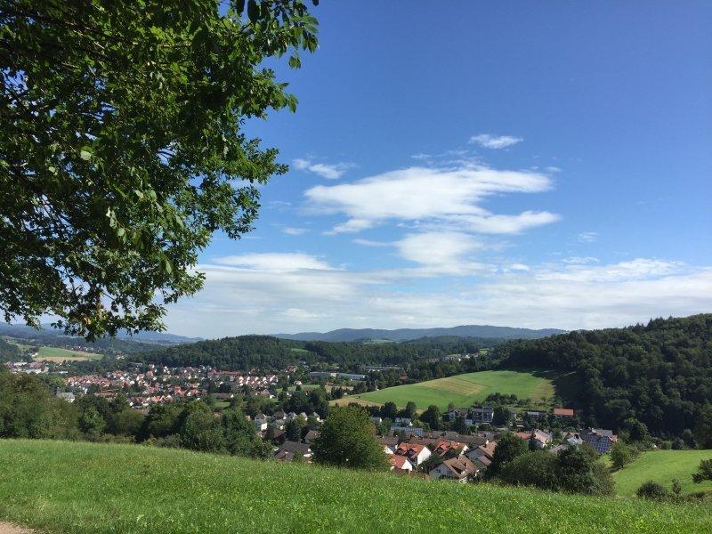 Blick, Panoramabild, Horizont, blauer Himmel, Megamarsch-Route