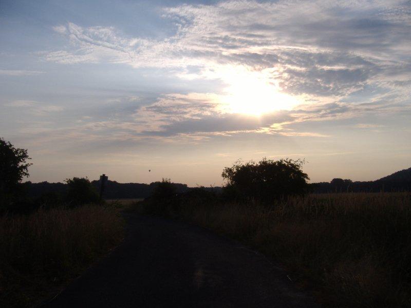 Horizont, Sonnenaufgang, Glessener Höhe, Wolken, Himmel, Bäume