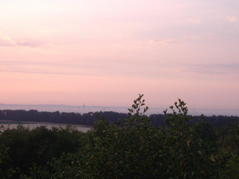 Sonnenaufgang, Frühaufsteher, Morgenrot, Blick nach Köln, Kölner Skyline