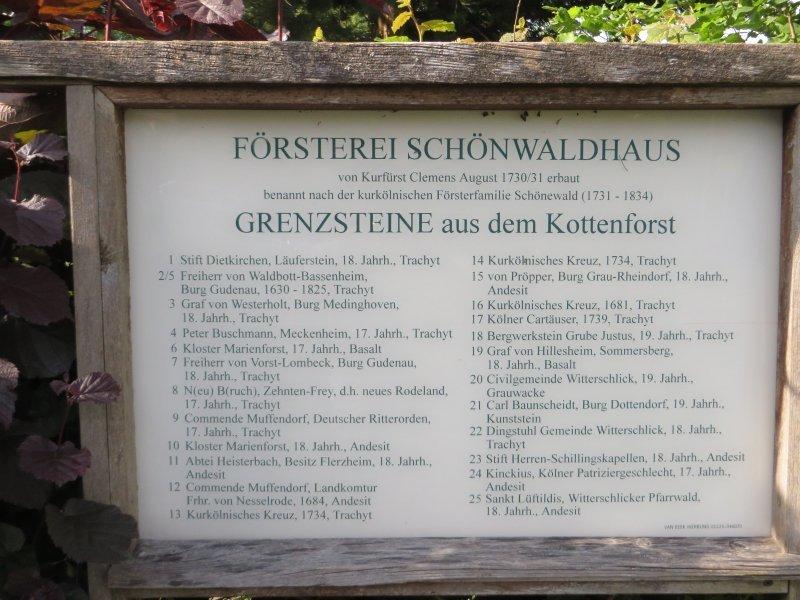Hier ein klein wenig Geschichte zu Beginn oder am Ende der Frühaufsteherwanderung im Kottenforst (Foto: Hans-Joachim Schneider)
