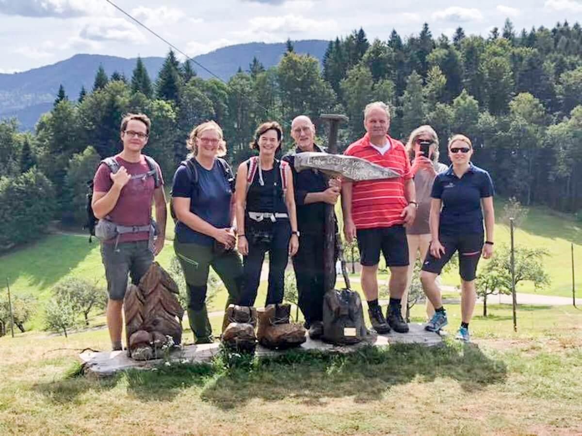 Schwarzwaldsteig Wandern, alle Teilnehmer des Bloggerwanderns auf einem Foto